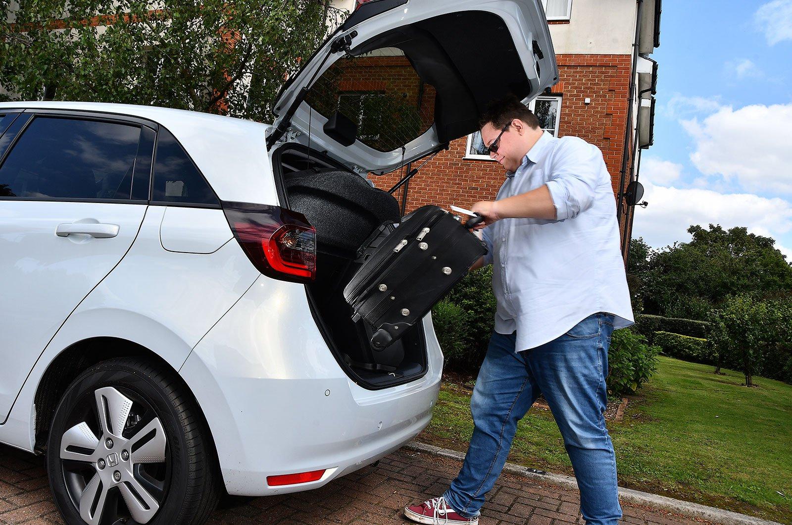 Honda Jazz with suitcases