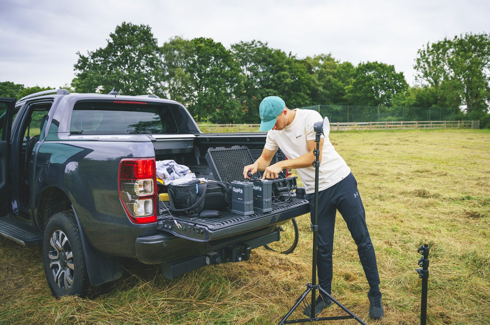 LT Ford Ranger with camera equipment