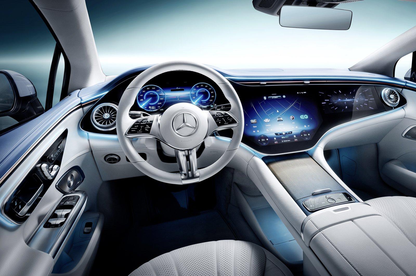 Mercedes EQE 2022 dashboard