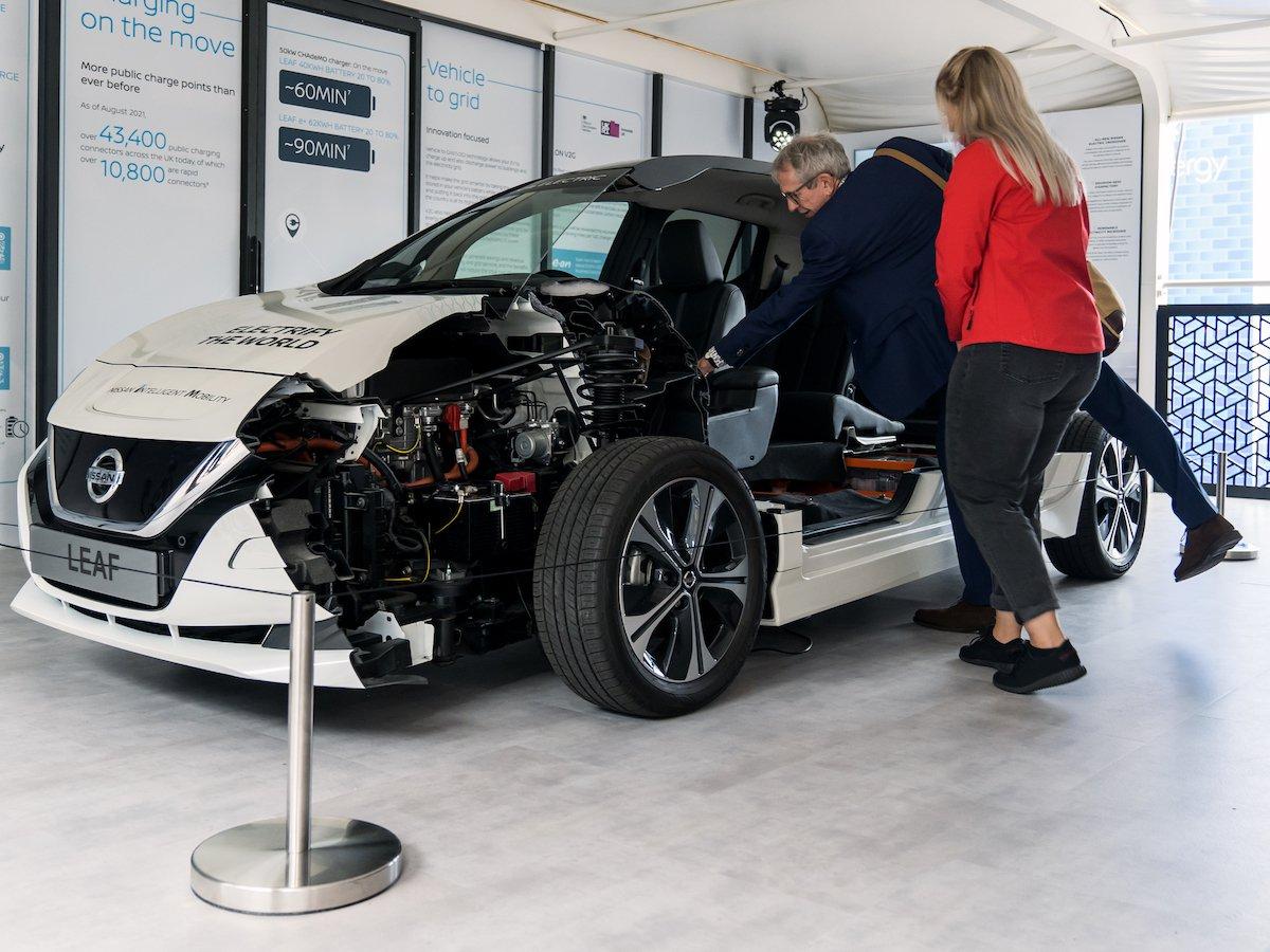 Dietro le quinte con Nissan all'evento di tre giorni incentrato sui veicoli elettrici