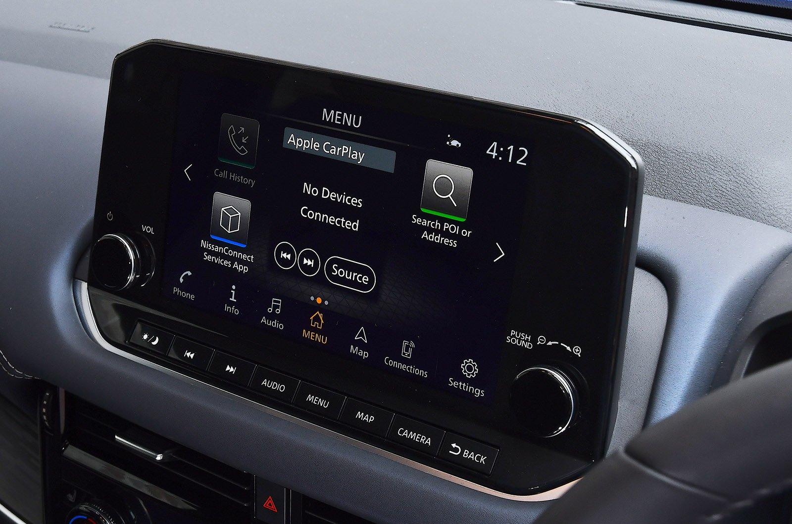 Nissan Qashqai 2021 touchscreen