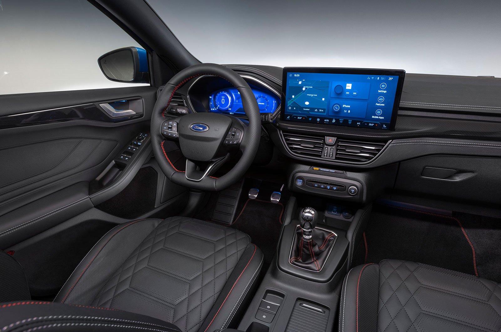 2022 interior do Ford Focus