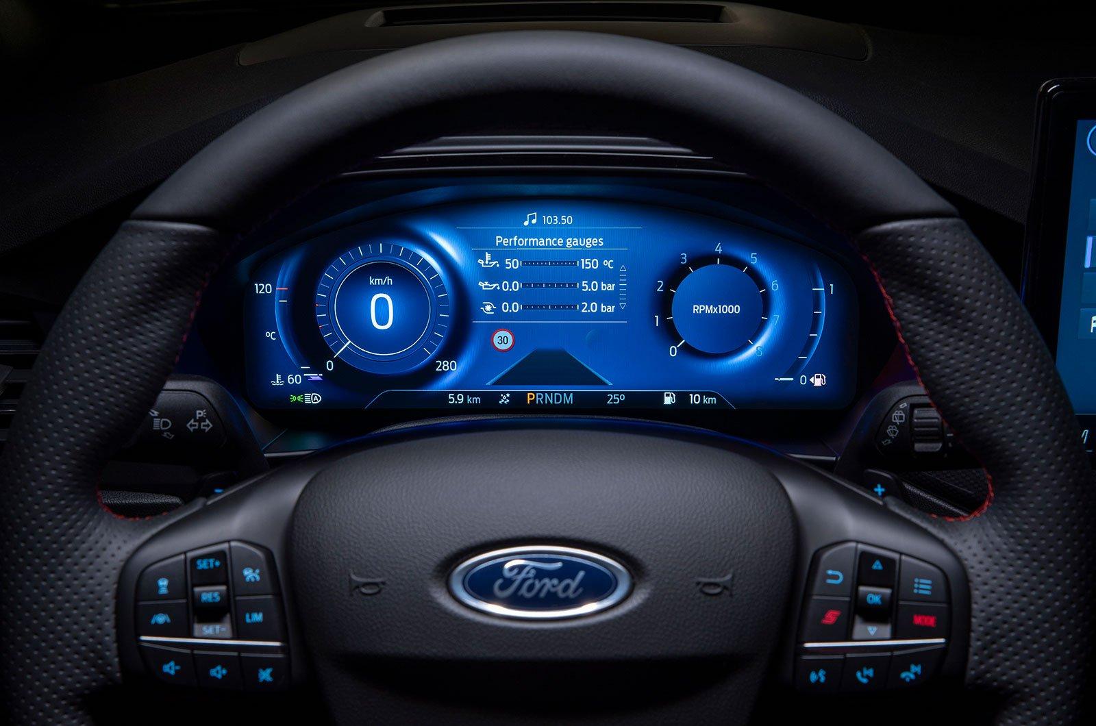 2022 instrumentos digitais Ford Focus