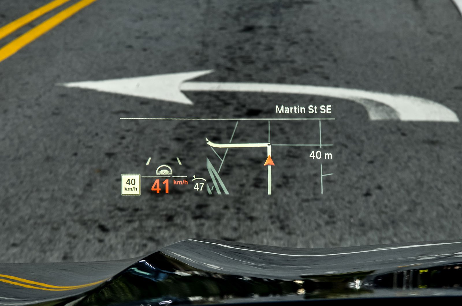 BMW X5 head-up display