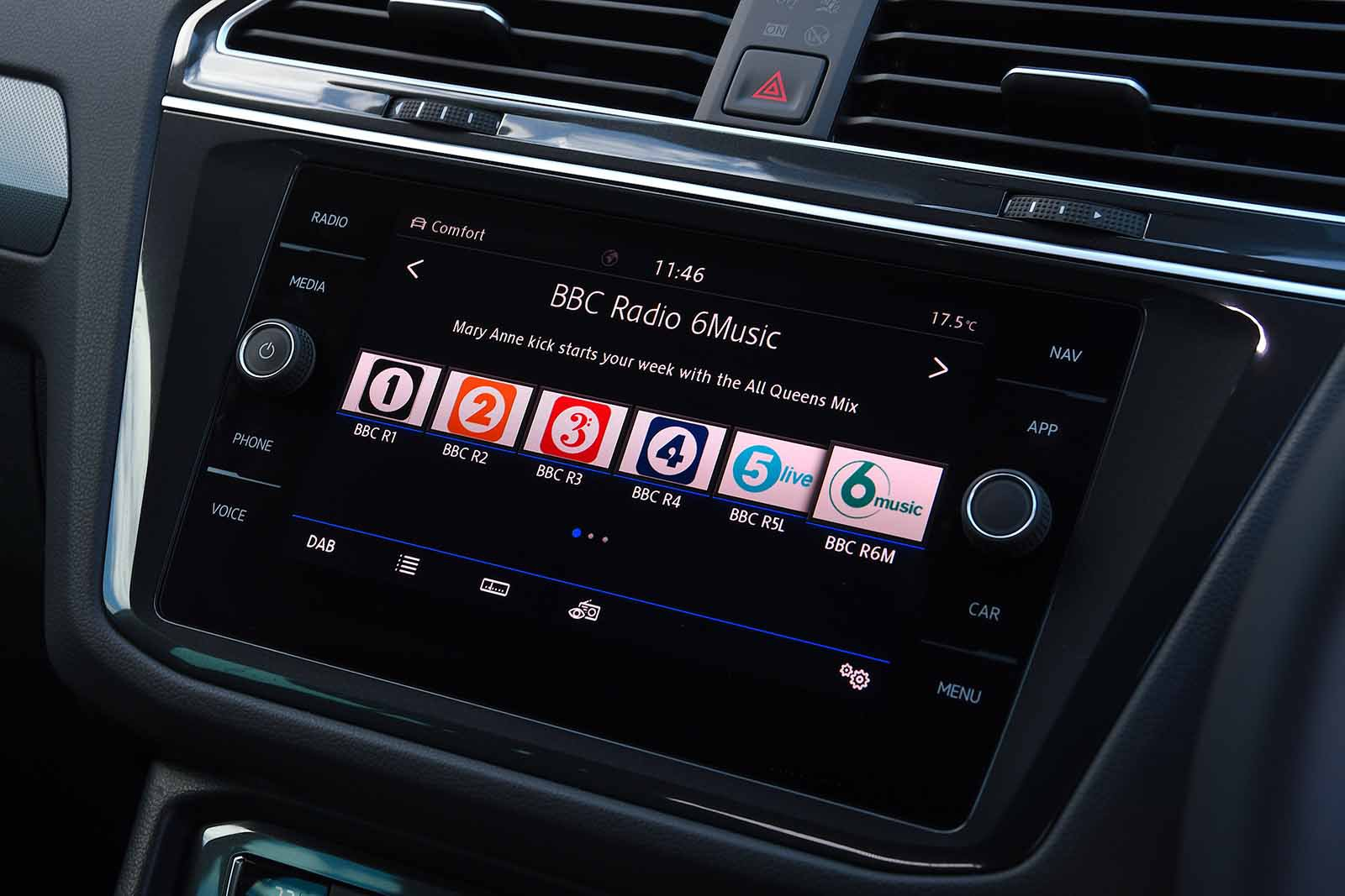 Volkswagen Tiguan 2019 RHD infotainment