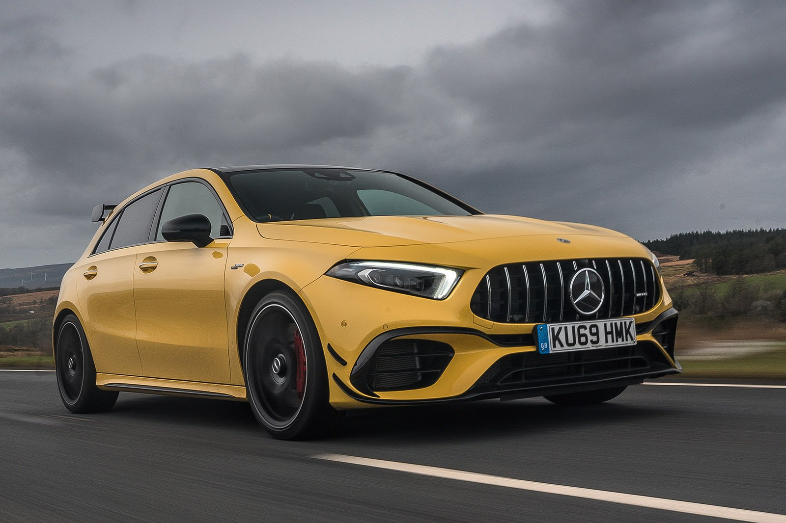 Mercedes A45 AMG 2020 RHD front tracking