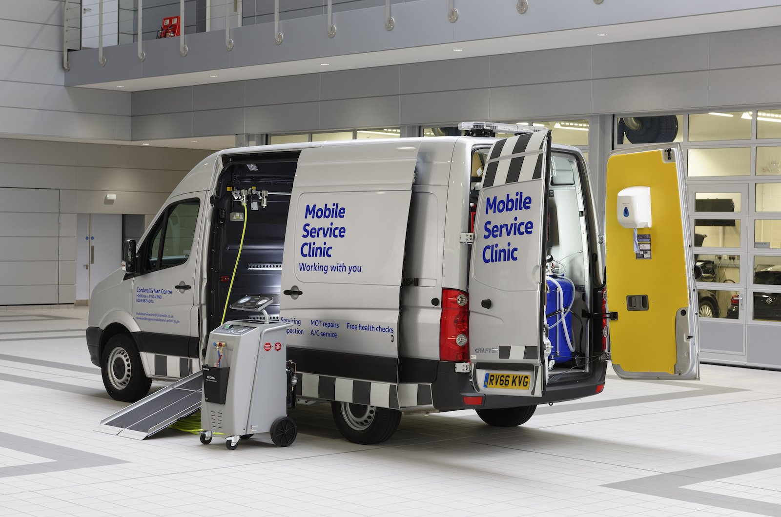 Not every business can spare the time for vans to be off the road for simple servicing and repairs. That's why Volkswagen Commercial Vehicles has re-thought the process