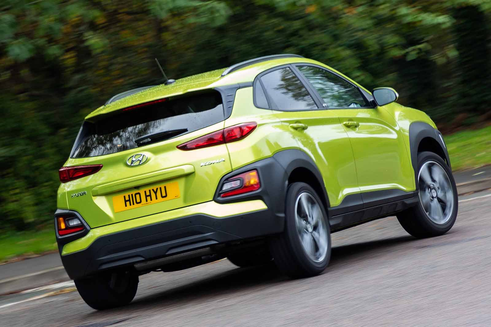Hyundai Kona 2019 rhd rear right cornering