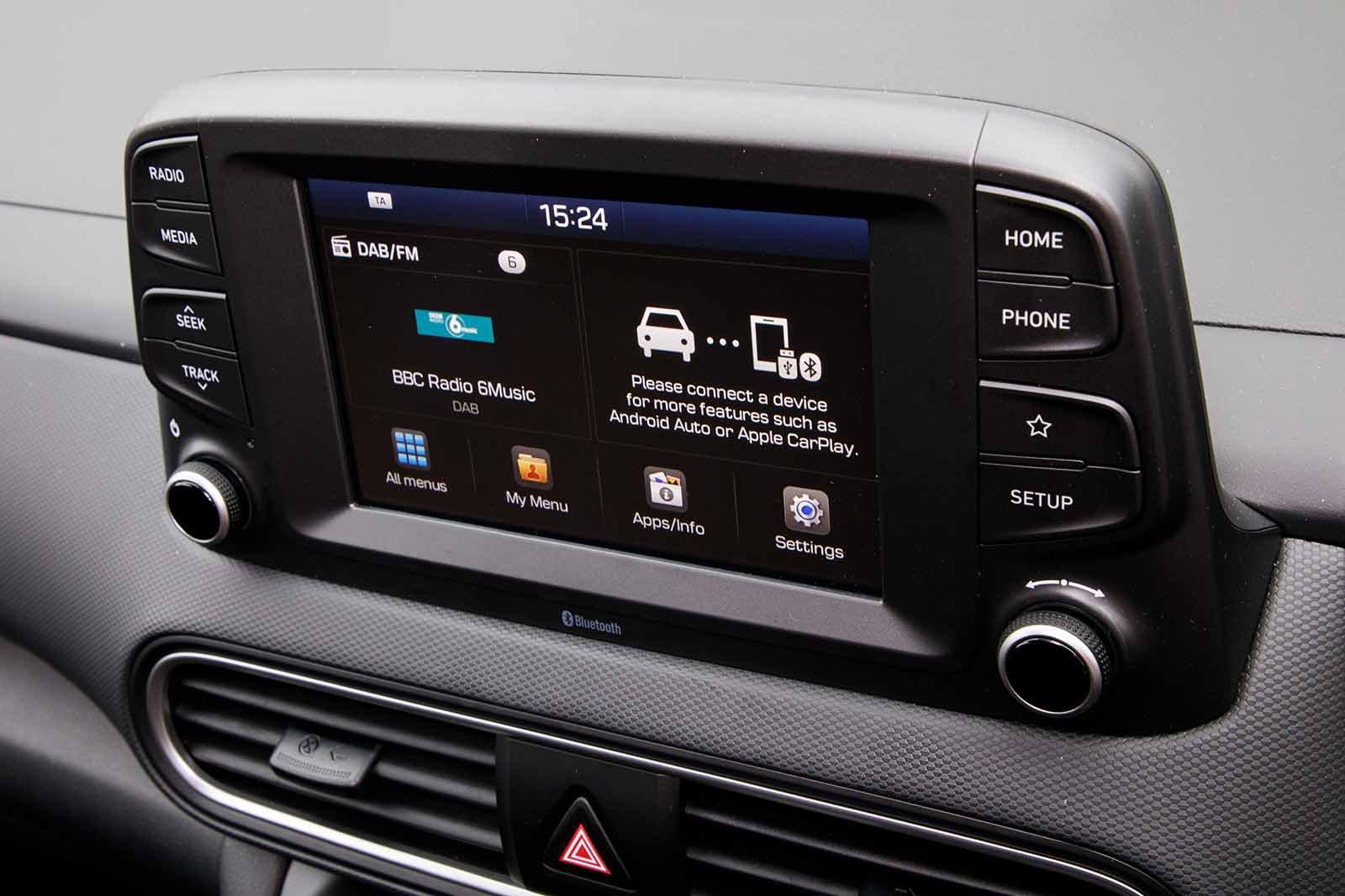 Hyundai Kona 2019 RHD infotainment