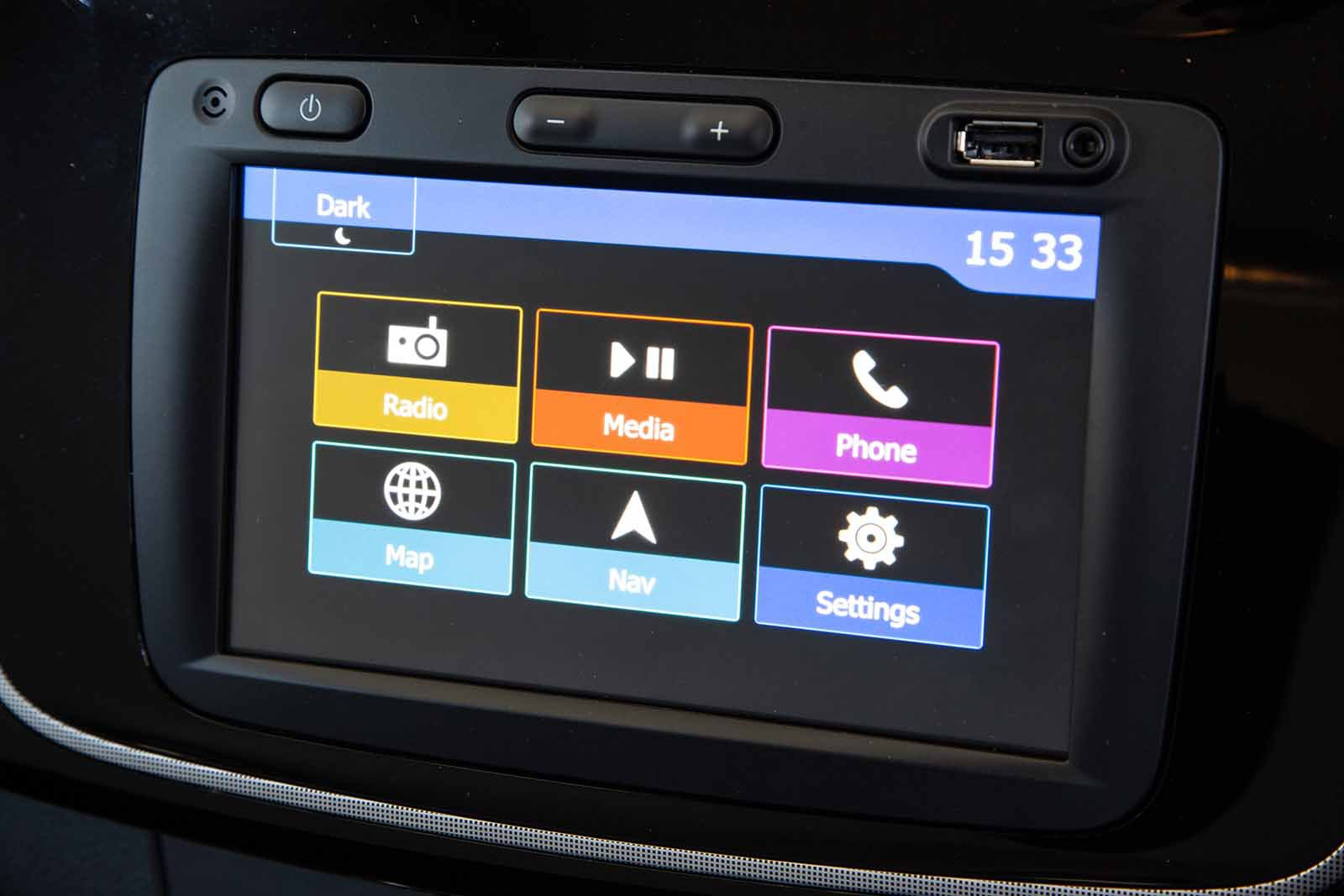 Dacia Logan MCV Estate 2019 infotainment