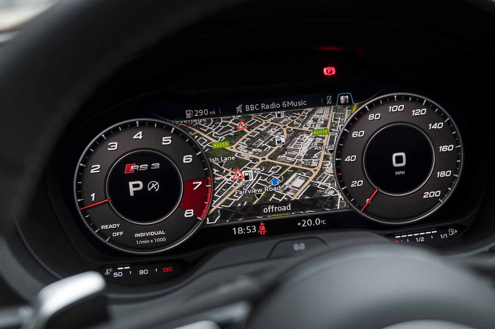 Audi RS3 RHD dashboard detail