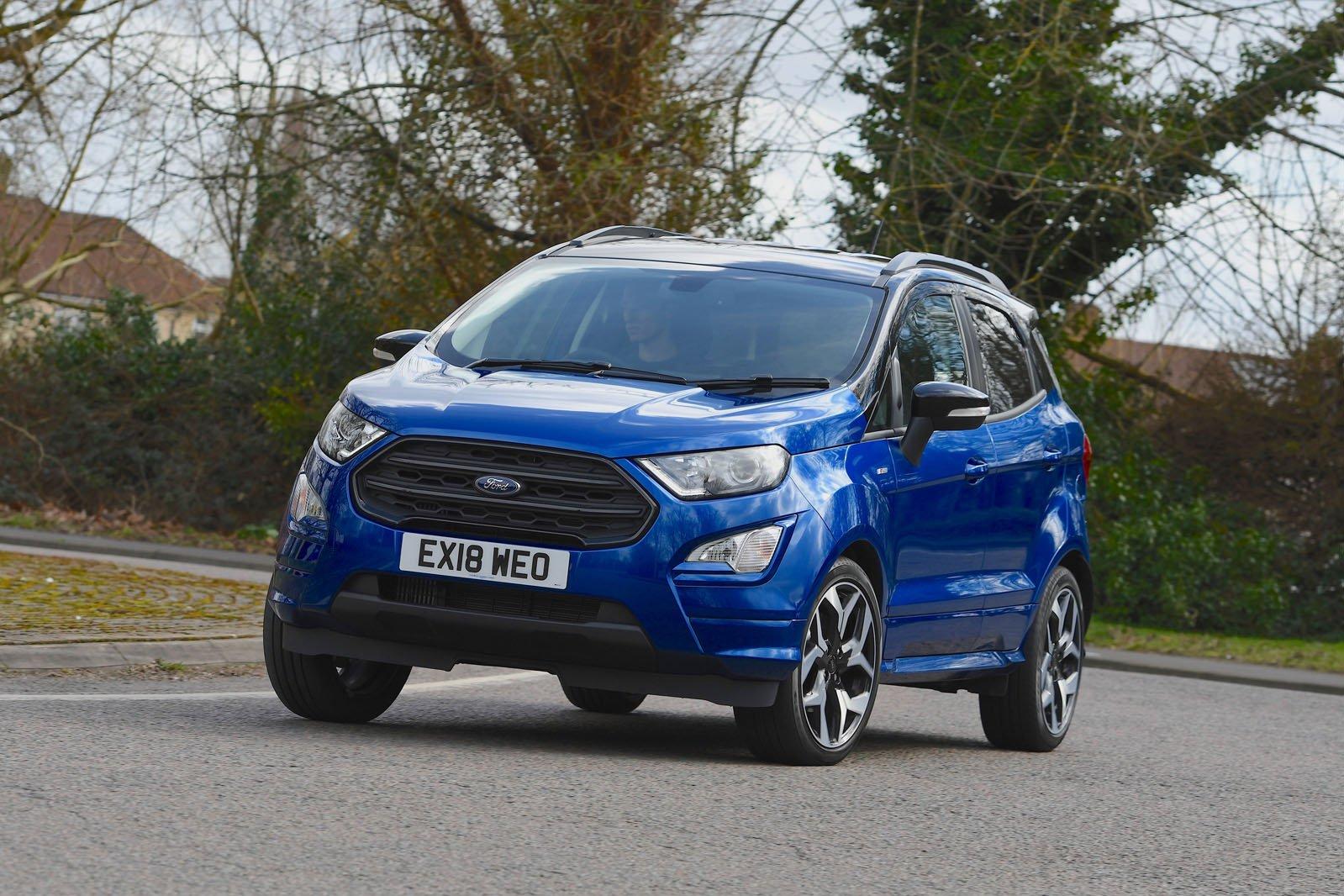 Ford Ecosport 2018 RHD front left tracking shot