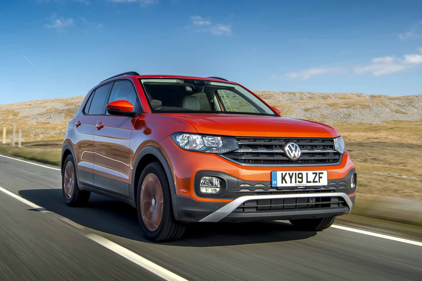 Volkswagen T-Cross 2019 front right tracking shot