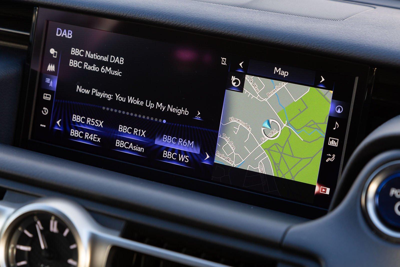 Lexus RC 2019 RHD infotainment