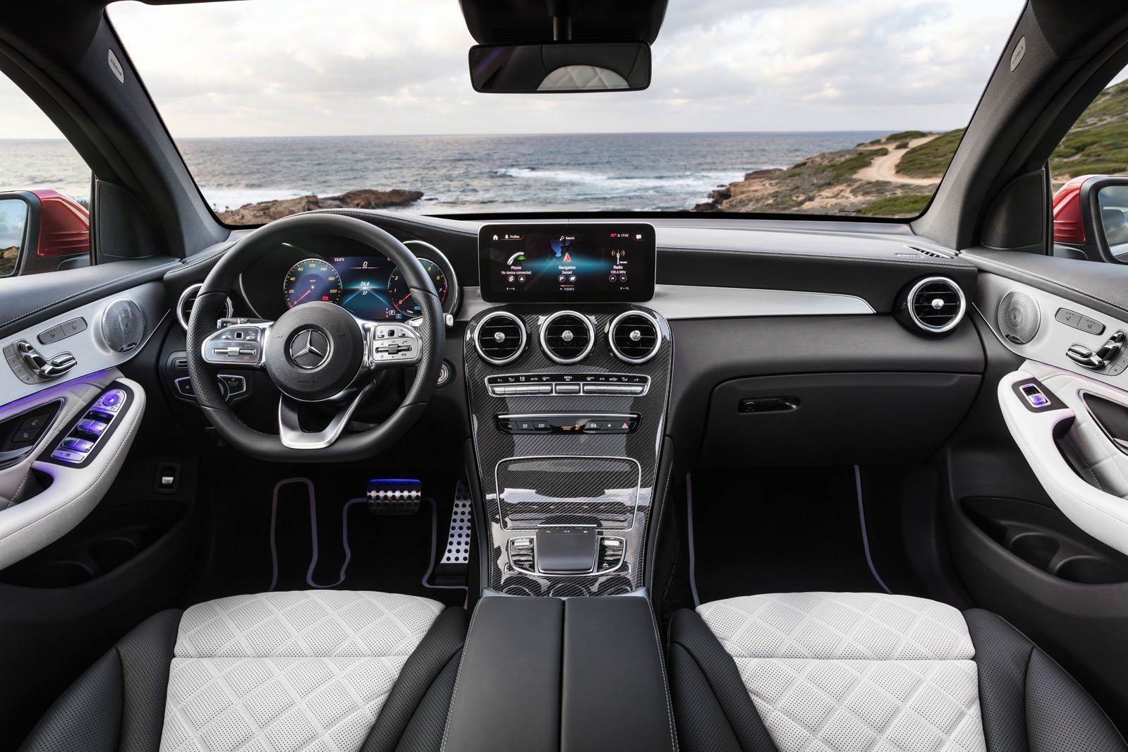 Mercedes GLC Coupe 2019 facelift RHD dashboard