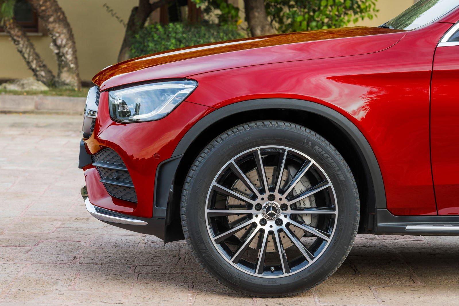 Mercedes GLC Coupe 2019 facelift front wheel detail