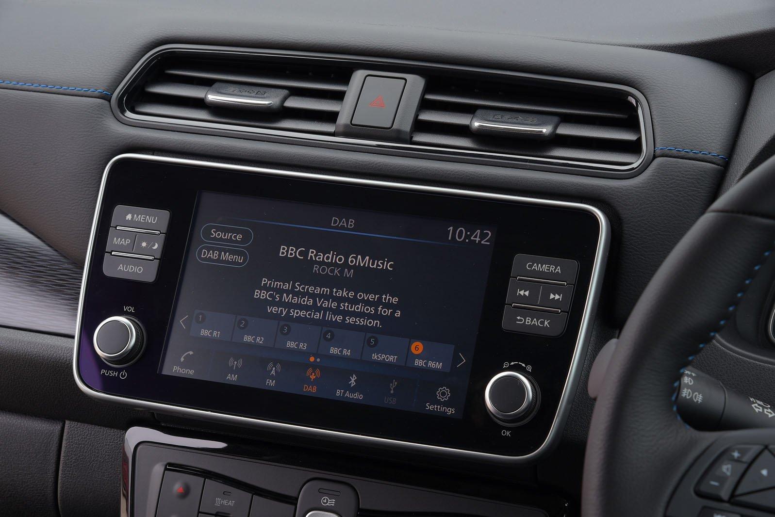 Nissan Leaf 2019 RHD infotainment