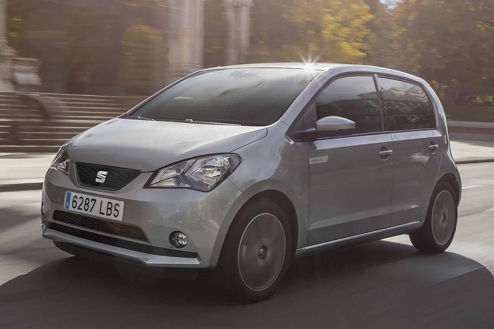 Seat Mii Electric 2019 LHD front cornering shot